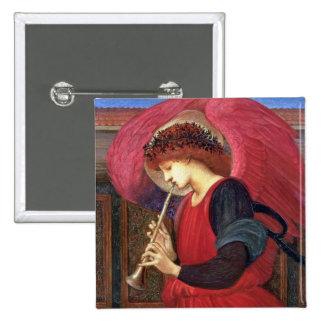 Pin del botón del ángel del navidad - Burne-Jones