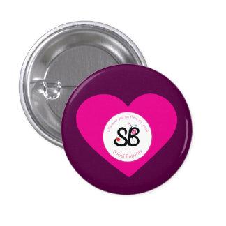 Pin del botón del corazón rosado de SBM mini