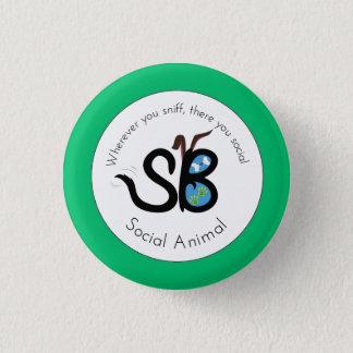 Pin del botón del logotipo animal social del Día