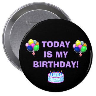Pin del cumpleaños chapa redonda de 10 cm