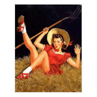 Pin del país encima del chica postal