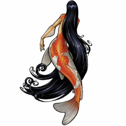Pin del recorte de la sirena de Koi/ornamento/imán Esculturas Fotográficas