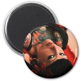 Pin del tatuaje para arriba iman de nevera
