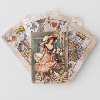 Pin del Victorian encima del traje París de la mod Cartas De Juego