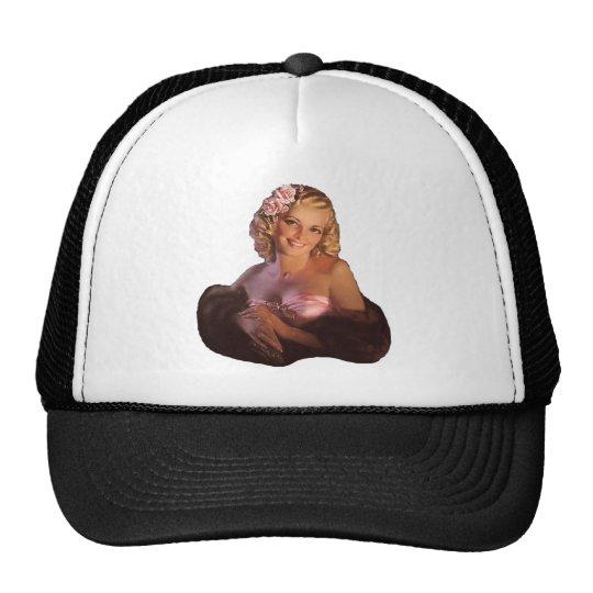 Pin encima del chica gorras de camionero