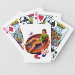 Pin encima del chica Las Vegas del casino Barajas De Cartas