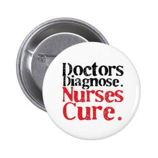 Pin enfermeras curan chapa redonda de 5 cm