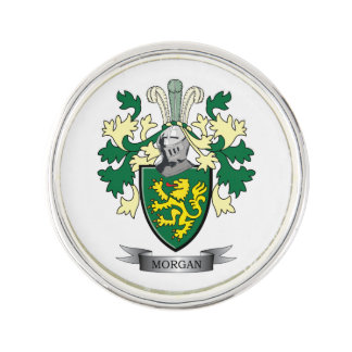 Pin Escudo de armas del escudo de la familia de Morgan