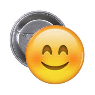 Pin feliz de Emoji Chapa Redonda De 5 Cm