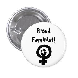 Pin orgulloso de la feminista chapa redonda de 2,5 cm
