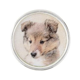 Pin Perrito del perro pastor de Shetland que pinta