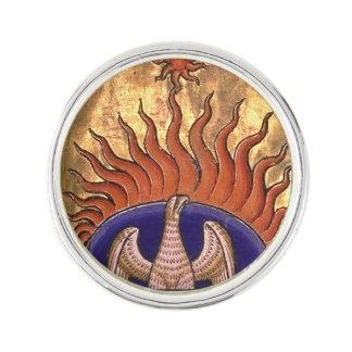 Pin Phoenix de oro que sube de las cenizas