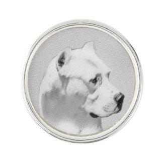 Pin Pintura de Dogo Argentino - arte original del
