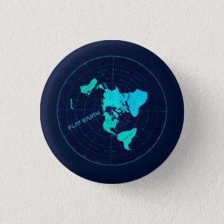 Pin plano de la tierra chapa redonda de 2,5 cm
