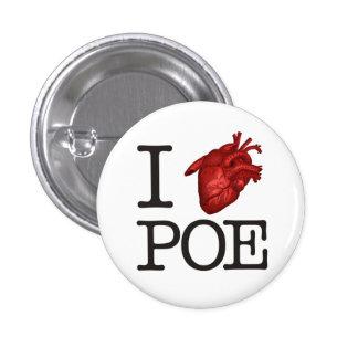 "Pin ""Poe Heart"" Chapa Redonda De 2,5 Cm"