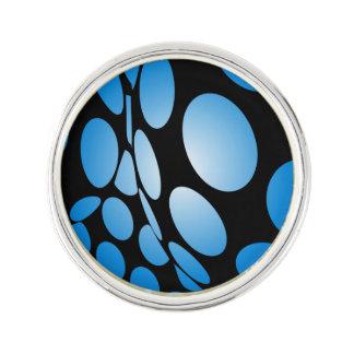 Pin Puntos azules deformados en negro