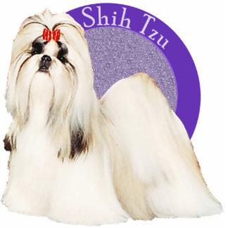 Pin púrpura de la foto de Shih Tzu Escultura Fotografica
