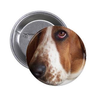 Pin redondo del perro de Basset Hound Chapa Redonda De 5 Cm