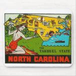 Pin retro de Carolina del Norte de la etiqueta del Tapete De Raton