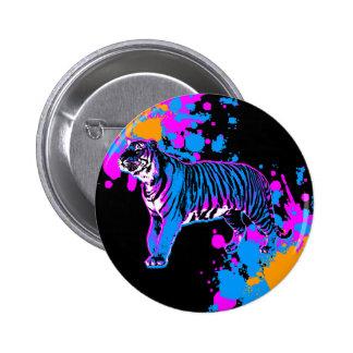 Pin retro de la salpicadura del tigre del tigre 80