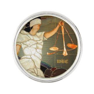 Pin Señora majestuosa Justice en diseño del vitral
