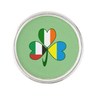 Pin Trébol de los UAE Ucrania Irlanda