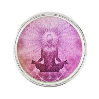 Pin Zen espiritual de la meditación de la yoga