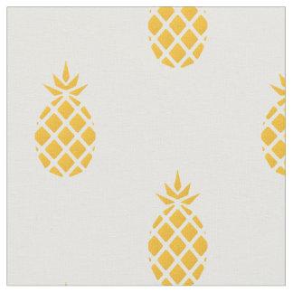 Piña amarilla tropical tela