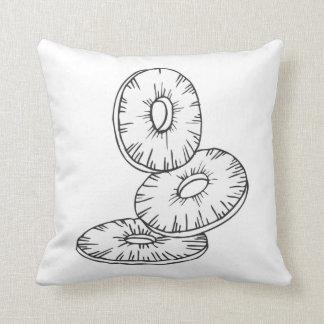 Piña blanco y negro de la almohada moderna