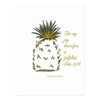 Piña de la alegría tarjeta postal