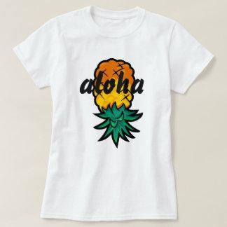 Piña de la hawaiana camiseta