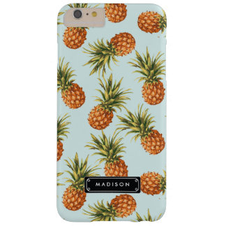Piña de la menta personalizada funda de iPhone 6 plus barely there