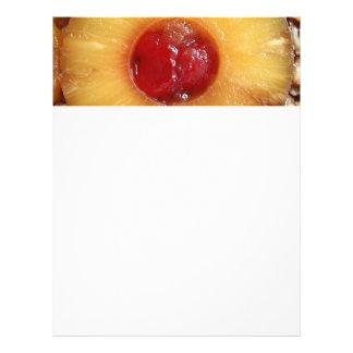 Piña de la torta al revés de la piña tarjetas informativas