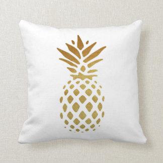 Piña de oro, fruta en oro cojín decorativo