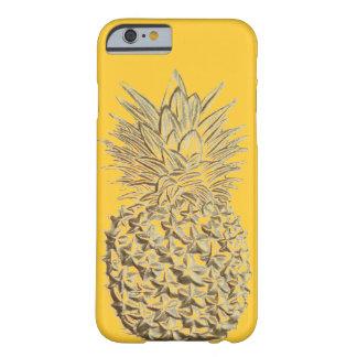 Piña en el oro amarillo funda de iPhone 6 barely there