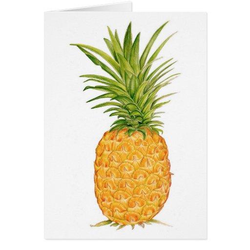 Piña hawaiana tarjeta