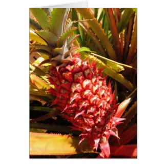 Piña hawaiana tarjeta de felicitación
