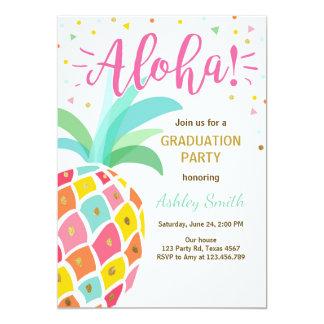 Piña Hawaii de la invitación de la fiesta de