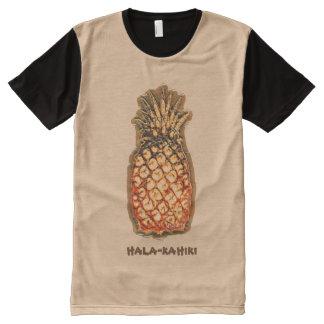 Piña por Aleta Camiseta Con Estampado Integral