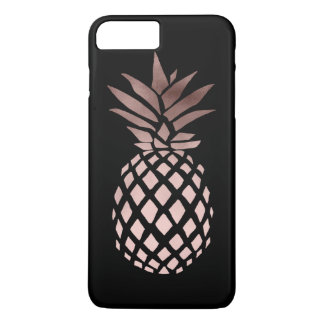piña tropical del falso oro color de rosa claro funda para iPhone 8 plus/7 plus