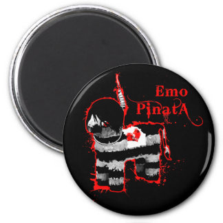 pinata del emo imán redondo 5 cm