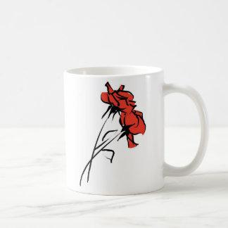 Pincelada brillante del rosa rojo taza de café