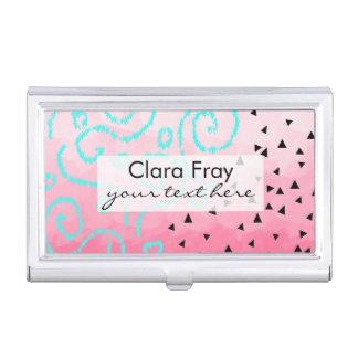 pincelada geométrica del rosa del modelo del negro cajas de tarjetas de presentación