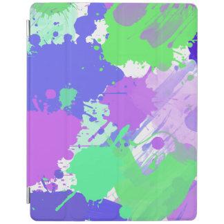pinceladas de neón coloridas abstractas de moda cover de iPad