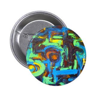Pinceladas pintadas a mano del arte chapa redonda 5 cm