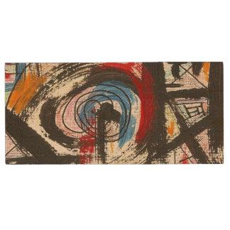 Pinceladas pintadas Staccato-Mano del arte Memoria USB De Madera