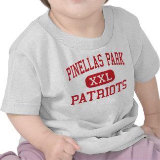 Pinellas Park - patriotas - alto - largo la Florid Camisetas