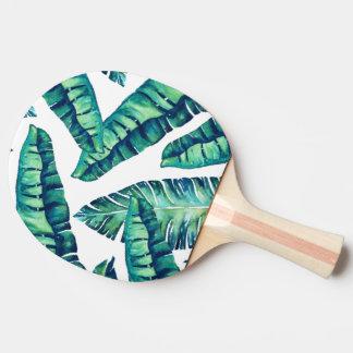 Ping-pong atractivo tropical pala de ping pong