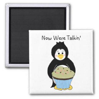 Pingüino con la magdalena imanes