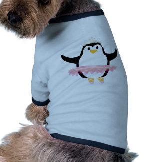 Pingüino de la bailarina camisas de mascota